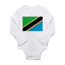 Flag of Tanzania Long Sleeve Infant Bodysuit