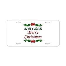 """Merry Christmas!"" Aluminum License Plate"