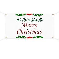 """Merry Christmas!"" Banner"