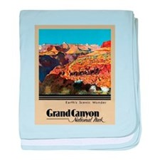 Grand Canyon Travel Poster 2 baby blanket