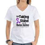 Stand Pancreatic Cancer Women's V-Neck T-Shirt