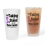Stand Pancreatic Cancer Drinking Glass