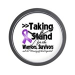 Stand Pancreatic Cancer Wall Clock