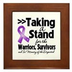 Stand Pancreatic Cancer Framed Tile