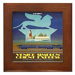 Travel Poster, Venice Framed Tile