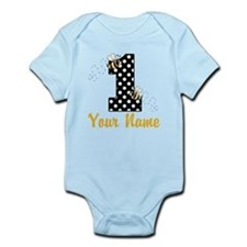 1st Birthday Bumble Bee Infant Bodysuit