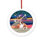 Xmas Star / Cavalier (BL) Ornament (Round)