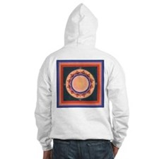 Blue and Purple Lotus Mandala Hoodie