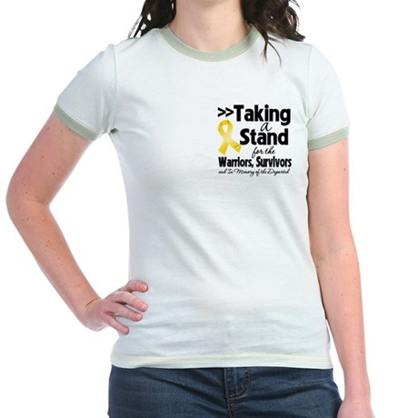 Stand Neuroblastoma Jr. Ringer T-Shirt