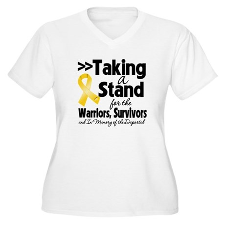 Stand Neuroblastoma Women's Plus Size V-Neck T-Shi