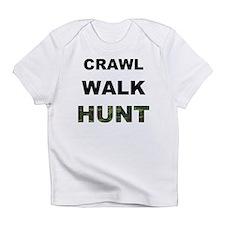 crawl walk hunt.png Infant T-Shirt