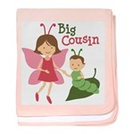 Big Cousin - Butterfly baby blanket