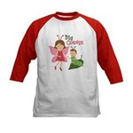 Big Cousin - Butterfly Kids Baseball Jersey