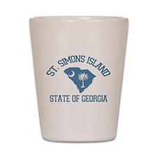 St. Simons GA - Map Design. Shot Glass