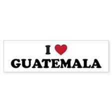 I Love Guatemala Bumper Sticker