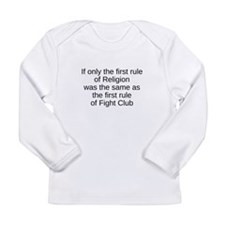 religion fight club Long Sleeve Infant T-Shirt