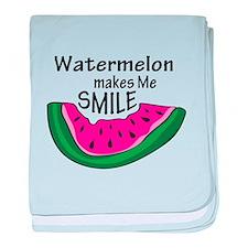 Watermelon Makes Me Smile baby blanket