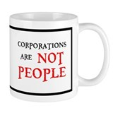 CORPORATIONS ARE NOT PEOPLE Mug