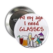 "I need glasses 2.25"" Button"