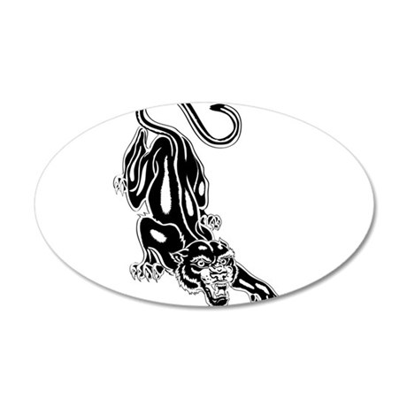 Panther 35x21 Oval Wall Decal