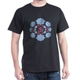 oms lotus Black T-Shirt