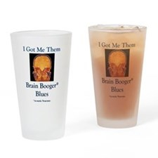 Brain Booger Blues Drinking Glass