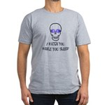 Watch You Sleep Men's Fitted T-Shirt (dark)