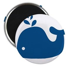 """Navy Blue Silhouette Whale 2.25"""" Magnet (10 pack)"""