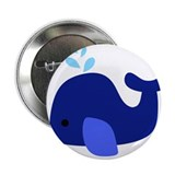 "Blue Whale 2.25"" Button"