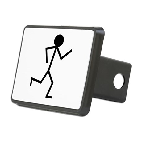 Running Stickman.png Rectangular Hitch Cover