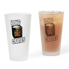 I DIG CRATES Drinking Glass
