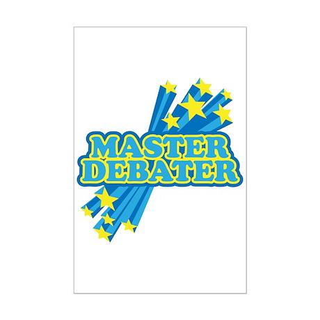 Master Debater Mini Poster Print