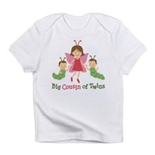 Big Cousin of Twins - Butterfly Infant T-Shirt