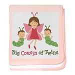 Big Cousin of Twins - Butterfly baby blanket