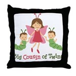 Big Cousin of Twins - Butterfly Throw Pillow