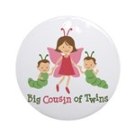Big Cousin of Twins - Butterfly Ornament (Round)