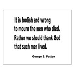 Patton on Death Small Poster