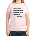 Patton on Death (Front) Women's Pink T-Shirt