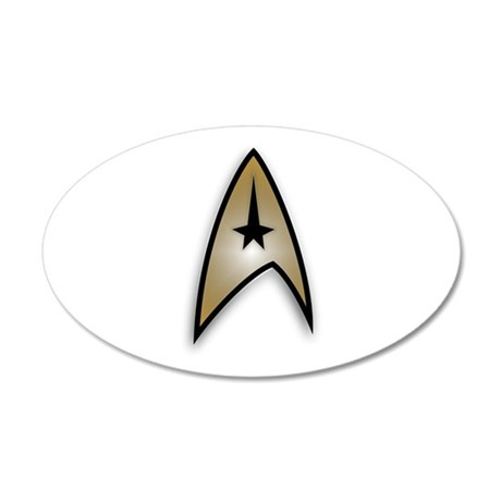 Star Trek TOS command 35x21 Oval Wall Decal