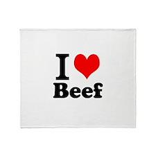 i love beef, beef, meat Throw Blanket