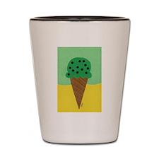 Mint Chocolate Chip Ice Cream Cone Shot Glass