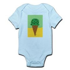 Mint Chocolate Chip Ice Cream Cone Infant Bodysuit