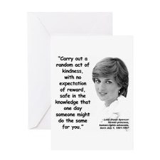 Diana Kindness Quote 3 Greeting Card
