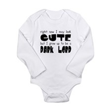 Cute Vader Long Sleeve Infant Bodysuit