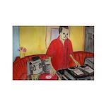 El DJ Booth Rectangle Magnet (10 pack)