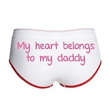 My heart belongs te my daddy Women's Boy Brief