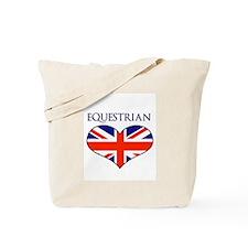 LOVE EQUESTRIAN UNION JACK Tote Bag