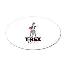 Tyrannosaurus Rex Rocks 20x12 Oval Wall Decal