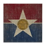 Vintage Dallas Flag Tile Coaster