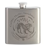 Celtic Lion Coin Flask